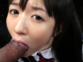 Teeny queen Ai Uehara gives a nice blowjob
