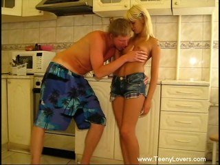 Lustful sex in kitchen