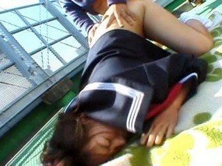 Chubby Misa Kashigawi fucked outdoors