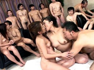 Sanae Miyama and girlfriend in hot group sex